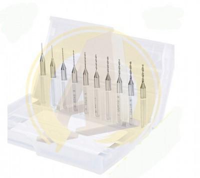 10pcs/lot PCB Engraving tool drill bits 3.175mm diameter(0.30/0.40/0.50/0.60/0.50/0.60/0.90/1.00/1.10/1.20)