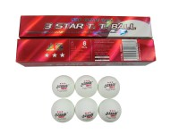 4 pack DHS 3 star Table tennis ball pingpong balls white 6pcs/pack,free shipping