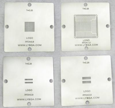 4pcs/set, bga reballing stencil 80mm*80mm PS4 stencil CXD90025G, CXD90026G, K4G41325FC GDDR5 RAM, K4B2G1646E DDR3 SDRAM