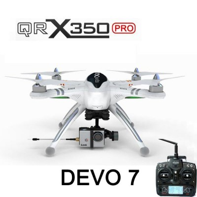 Walkera QR X350 PRO Devo 7 transmitter version,with transmitter,battery and charger,not included G-2D gimbal