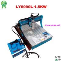 1.5KW CNC 6090 engraving machine, Linear Guide Rail, high precise moving