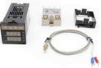 Digital PID Temperature Controller Thermostat REX-C100 + Max.40DA SSR Relay + K Thermocouple Probe