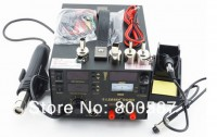 SAIKE 909D 3IN1 REWORK STATION Hot Air Gun SMD Soldering Iron Power Supply, bga welding machine