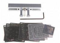 27pcs BGA Directly Heat Rework Reballing Universal Stencil Template + BGA Reballing Kit Station