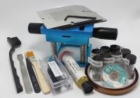 BGA Reballing Station 90mm Universal Reballing Bga Stencil Kit for Laptop Gameconsole 10 pcs Stencil + 15 free Gifts
