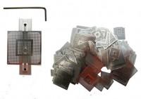 bga reballing kit which includes 90mm reballing station, stencils, solder balls