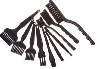 10pcs/set AntiStatic Brush BGA Brush ESD Hairbrush PCB Cleaning Brush
