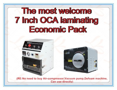 LY 838 OCA vacuum laminator with LY 965 3 in 1 defoam machine,the most welcome 7 Inch OCA laminating Economic Pack,220V/110V