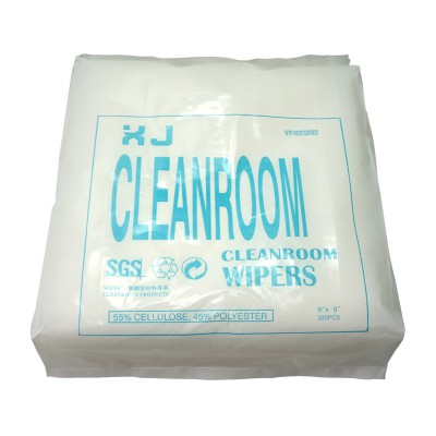 Cost-effective cleanroom wipers non dust cloth paper 300pcs/pack 9x9cm dust free paper clean paper
