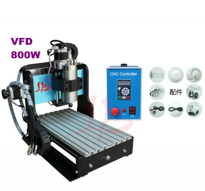 110/220V 800W water cooled spindle CNC Router Machine 3020 Z-S, CNC cutting machine with limit switch