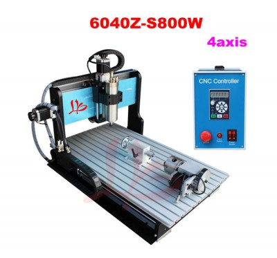 4 Axis CNC engraving machine 6040 with 800W water cooled spindle motor