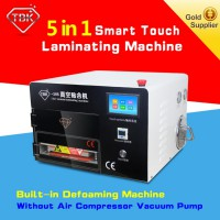 LY 897A lamination machine Upgrade 5 in1 touch screen vacuum OCA Lamination Machine with Built-in Air Compressor,defoam machine,for 9 inch mobile screens