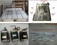 Customized CNC 6090 Casting Frame kit, with lathe bed, ball screw, bearing, stepper motor and coupler
