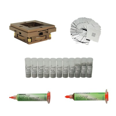 BGA repair kit 80mm 90mm reballing station with 33pcs Universal Stencil for game console