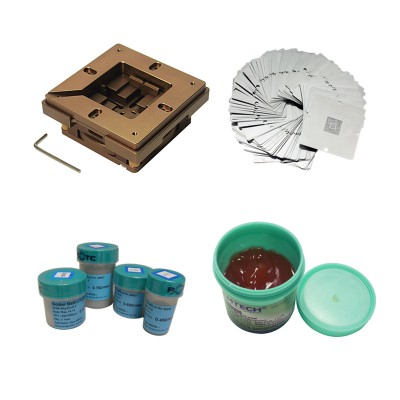 BGA repair kit 90mm reballing station with 33pcs Universal Stencil lead-free solder ball for game console