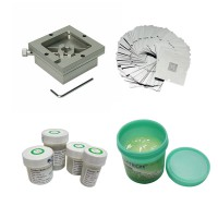 90*90MM rework fixtures with Reballing Stencil bga kit solder ball flux repair tool