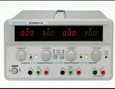 3 Channels DC Power Supply Triple Output 0-30V/3A 5V/3A AC110-220V APS3003S-3D