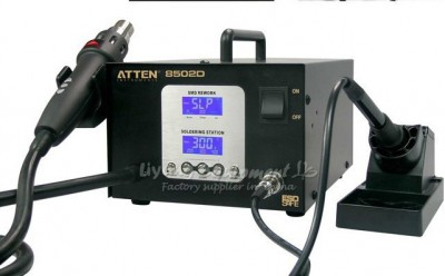 ATTEN AT8502D 2 in 1 SMD Rework Station Leadfree Soldering Station Desoldering Station bga rework machine