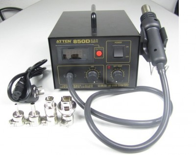 ATTEN AT850D hot air SMD soldering station, anti-static and digital display, 220V/110V for option
