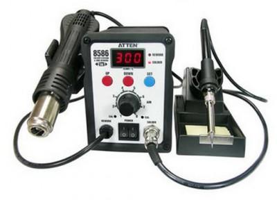 220V ATTEN AT8586 2 in1 Hot Air SMD Rework Soldering Station Desoldering Station