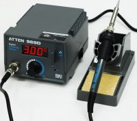 Atten AT969D Digital Soldering Station, lead-free anti-static Soldering Iron
