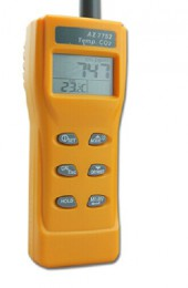 AZ7752 Handheld carbon dioxide detector CO2 gas detector air quality monitor with temperature measurement