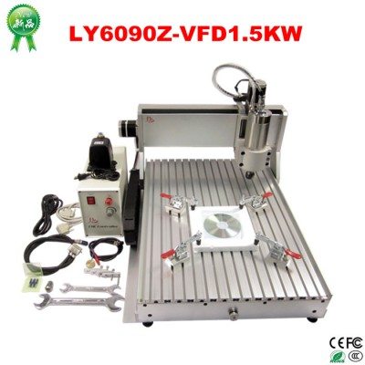 Assembled 6090 CNC Router Machine with 1.5KW spindle