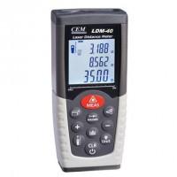 CEM Laser Distance Meter 0.05-40m(0.15ft -131ft ) Rangefinder Laser Tape Measure LDM-40