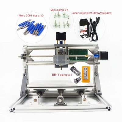 Disassembled pack mini CNC 2418 PRO without laser or with laser head 500mw/2500mw/5500mw CNC engraving machine Pcb Milling Machine Wood Carving machine diy mini cnc router with GRBL control