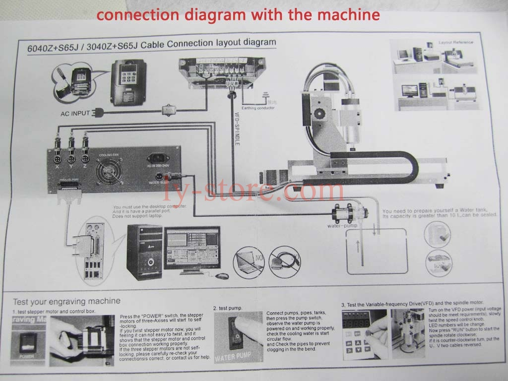 CNC 6040 Z S65 800W New 8 cnc 6040 z s65j 800w milling router engraving machine desktop CNC Ball Screw Diagram at bayanpartner.co