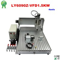 CNC engraving machine 4 axis 6090 1.5KW, assembled milling router