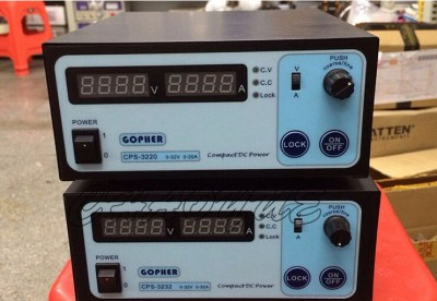 Mini CPS-3232 DC Power Supply + 37pcs DC head clip wire US / UK / EU / AU adapter OVP/OCP/OTP low power 0-32v 0-32A