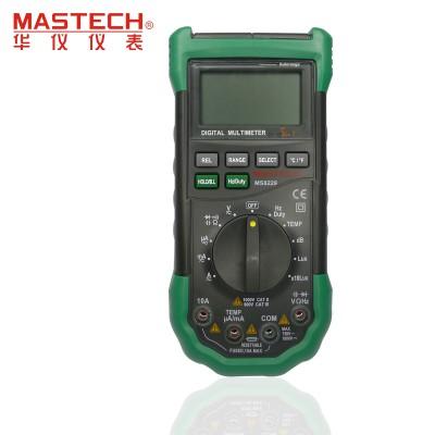 1pc Mastech MS8229 5 in1 Auto range Digital Multimeter Multifunction Lux Sound Level Temperature Humidity Tester Meter
