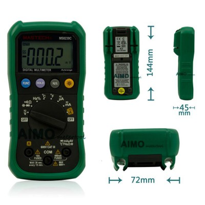 Mastech Auto range Handheld 3 3/4 Digital Multimeter MS8239C AC DC Voltage Current Capacitance Frequency Temperature Tester