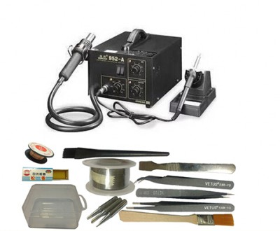 220V GORDAK 952A 2 in 1 Hot Air Welder Heat Gun Soldering Station WITH MANY free gifts