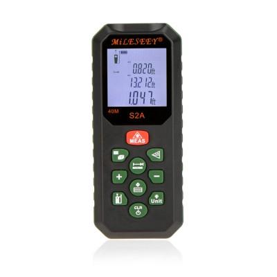 MiLESEEY S2A 40M Laser Distance Meter Area Volume Measuring Instrument Multi-line Display Distance Measurer Laser Rangefinder