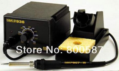 220V HAKKO 936 Soldering Station Digital Solder Iron with A1321 Ceramic Heater+5 free solder tips+IC pick up