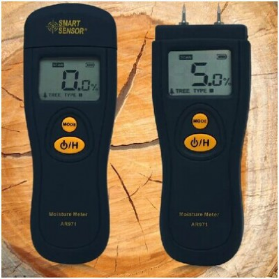 SMART SENSOR AR971 LCD digital Bamboo Paper Wood Moisture Meter tester Tree moisture detector