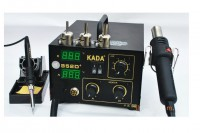 KADA 852D+ 2 in 1 220V SMD SMT soldering station with hot air iron rework welder