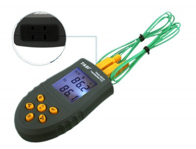 TASI-8620 Portable K TYPE Thermocouple Probe Dual Channel Thermometers Digital Thermometer Temperature Measurement -50 ~1350 C