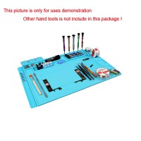 45x30cm Heat Insulation Silicon Pad Desk Mat Maintenance Platform S-160 S160 for BGA Soldering Repair Station with Magnetic Section