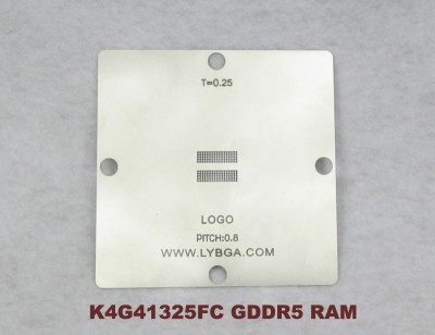 New arrival! 80mm * 80mm PS4 stencil K4G41325FC GDDR5 RAM, pitch 0.8mm, Suitable for 0.40mm solder ball reballing