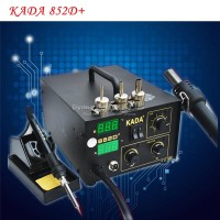 220V/110V KADA 852D+ SMD repairing system BGA soldering station Hot air gun & solder iron 2 in 1