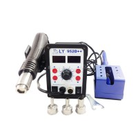 New auto sleep function big power smart LY 952D++ dual led 2 in 1 solder station 220V/110V 700W