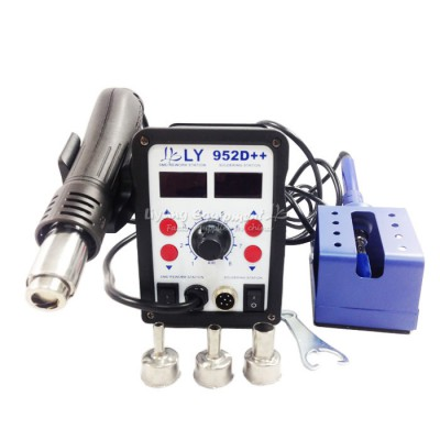 2017 upgraded version new auto sleep function big power smart LY 952D++ dual led 2 in 1 solder station 220V/110V 700W