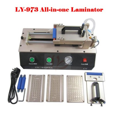 LY 973 V.3 all in one semi-Auto Vacuum OCA film aminator 220V/110V with 4 moulds universal S6 S6+ S7 Edge
