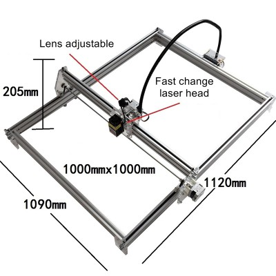 Disassembled LY 500mw 1000mw 2500mw 10W Blue Violet mini Laser Engraving Machine M1 laser height adjustable Carving Size 100*100CM