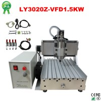 2015 hot sale cheap cnc 3020 3020z-vfd1.5kw metal engraving machine