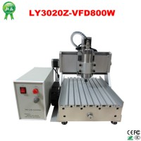 China CNC Router CNC 3020 800W Water Cooling 3 Axis for Light Metal Wood Carving