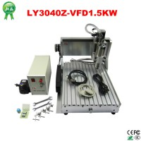 High quality Jade Metal CNC 3040 1.5KW engrave machine water cool Cutting Machine 220V/110V with limit switch and rotary axis